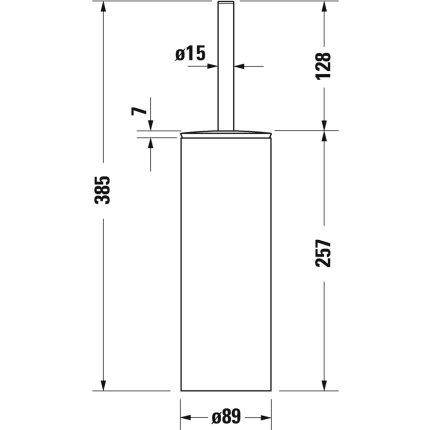Perie wc cu suport inalt Duravit D-Code