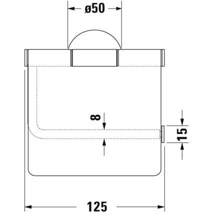 Suport hartie igienica Duravit Starck T cu aparatoare, crom