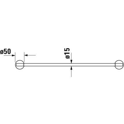 Bara port prosop Duravit Starck T 60cm, crom