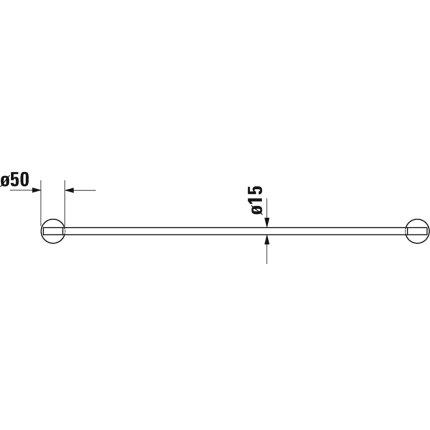 Bara port prosop Duravit Starck T 80cm, negru mat