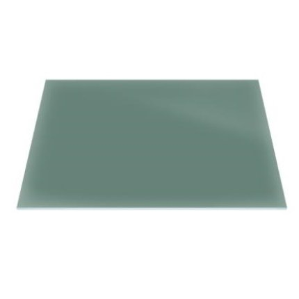 Raft sticla securizata Duravit DuraSquare 420x264, verde jad