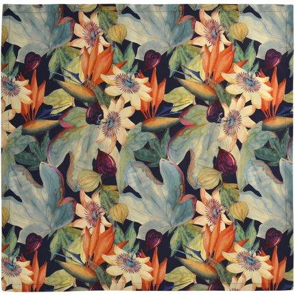 Fata de masa Sander Prints Anna 150x250cm, 4 albastru navy