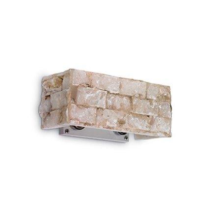 Aplica Ideal Lux Carrara AP2, 2x40W G9, 23x10x10cm, alabastru
