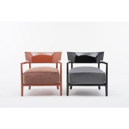 Fotoliu Kartell Cara Solid design Philippe Stark & Sergio Schito, ignifugat, negru/negru