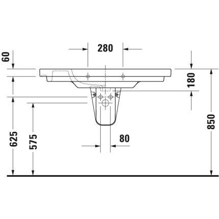 Lavoar Duravit D-Code 105x48cm, montare pe mobilier