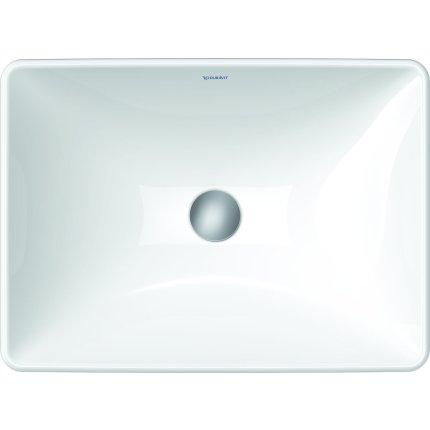 Lavoar Duravit D-Neo 60cm, fara orificiu baterie, fara preaplin, alb