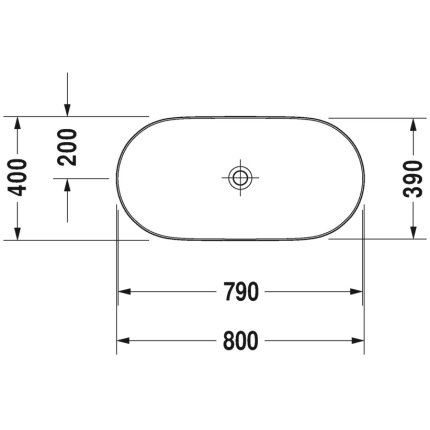 Lavoar tip bol Duravit Luv 80x40cm, fara orificiu baterie, fara preaplin, montare pe blat, include capac ceramic, alb lucios interior/gri satin mat exterior