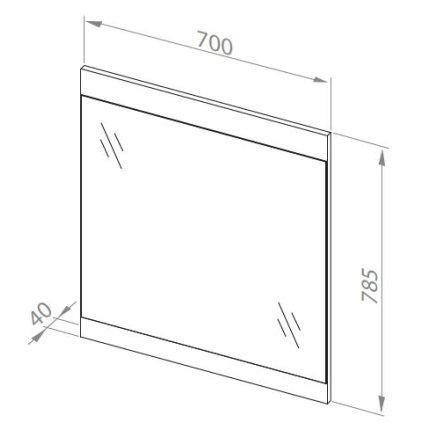 Oglinda Aquaform Decora 70, 70x78.5x40cm alb