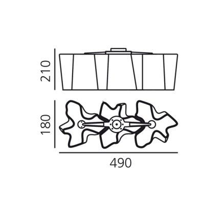 Plafoniera Artemide Logico Micro 3 in linea design Gerhard Reichert , Michele De Lucchi, alb