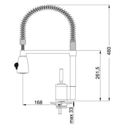 Baterie bucatarie Franke Joy Cocktail, pipa flexibila
