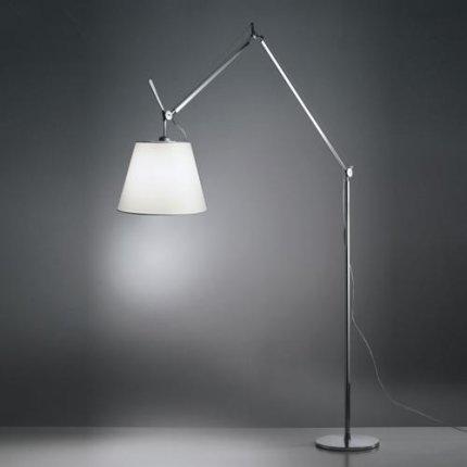 Lampadar Artemide Tolomeo Mega Terra D32 design Michele De Lucchi , Giancarlo Fassina, dimmer, natur