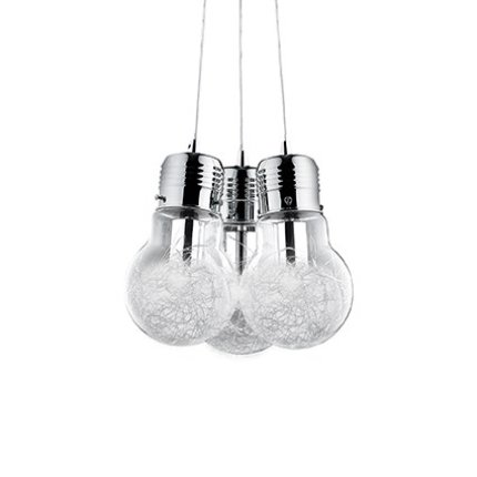 Pendul Ideal Lux Luce Max SP3, 3x60W, 32x30-120cm