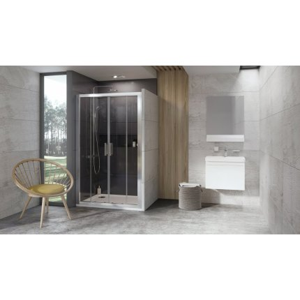 Usa de nisa tip cortina Ravak Concept 10° 10DP4-150, 150cm, crom lucios
