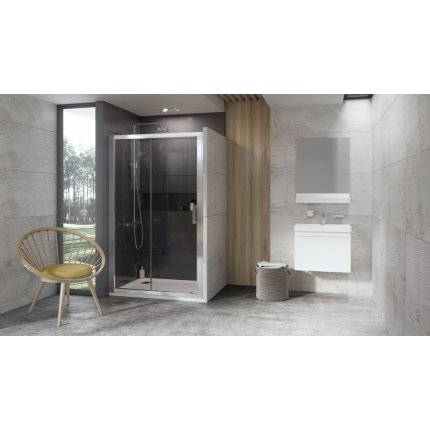 Usa de nisa glisanta Ravak Concept 10° 10DP2-120, 120cm, alb