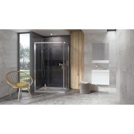 Cabina de dus asimetrica Ravak Concept 10° 10AP4 120x90cm, alb