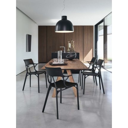 Scaun Kartell A.I. design Philippe Starck, negru
