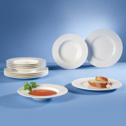 Set servire Villeroy & Boch Wonderful World White Dinner 12 piese