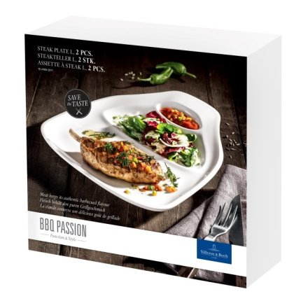 Set 2 farfurii friptura Villeroy & Boch Barbeque Passion L 30x29cm