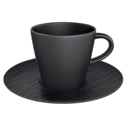 Ceasca si farfuriuta cafea Villeroy & Boch Manufacture Rock 0.22 litri