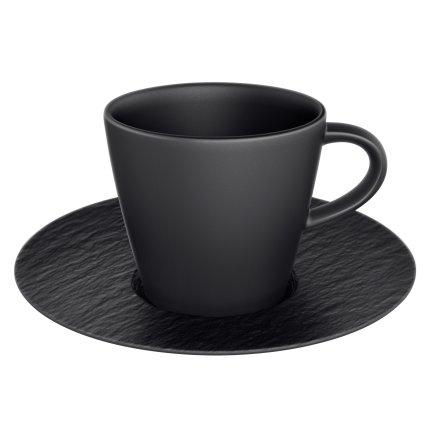 Ceasca si farfuriuta espresso Villeroy & Boch Manufacture Rock 0.10 litri