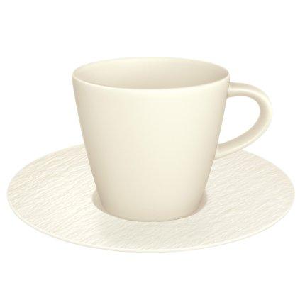 Ceasca si farfuriuta cafea Villeroy & Boch Manufacture Rock Blanc 0.22 litri