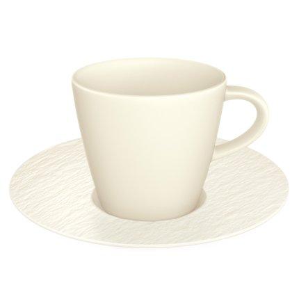 Ceasca si farfuriuta espresso Villeroy & Boch Manufacture Rock Blanc 0.10 litri