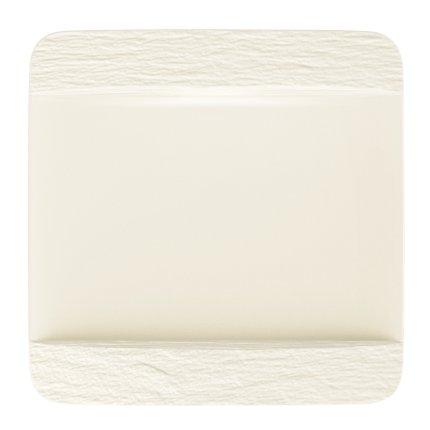 Farfurie plata Villeroy & Boch Manufacture Rock Blanc 28x28cm