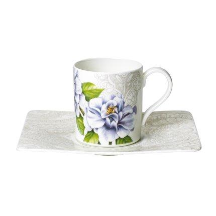 Ceasca si farfuriuta pentru cafea Villeroy & Boch Quinsai Garden 0.21 litri
