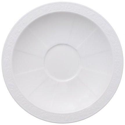 Farfuriuta pentru ceasca supa Villeroy & Boch White Pearl 18cm