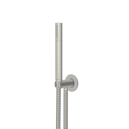 Set de dus Steinberg seria 100 Brushed Nickel cu para de dus, furtun 150 cm si agatatoare FixFit