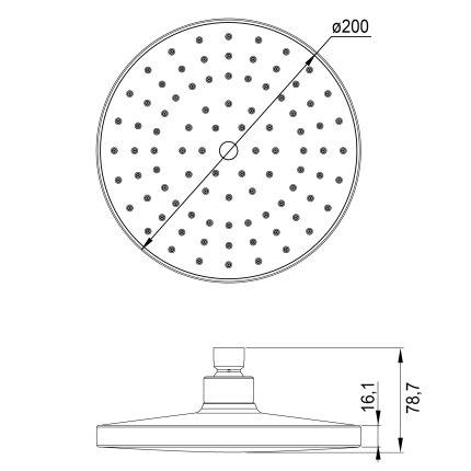 Palarie dus Steinberg Clarity seria 100 diametru 200mm