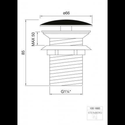 Ventil fix Steinberg seria 100 pentru lavoar fara preaplin