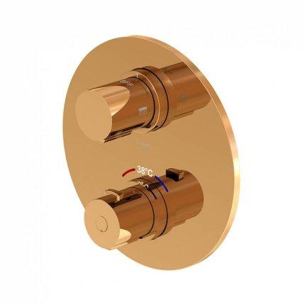 Baterie cada termostatata Steinberg seria 100 cu montaj incastrat, necesita corp ingropat, Rose Gold