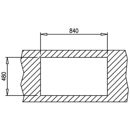 Chiuveta bucatarie Teka Classic 1B 1D 86 860x500mm, inox