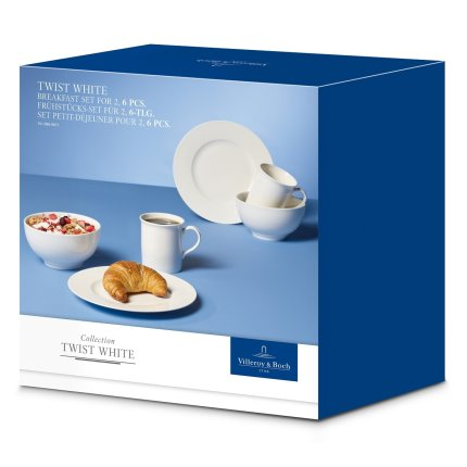 Set Villeroy & Boch Twist White Breakfast 6 piese