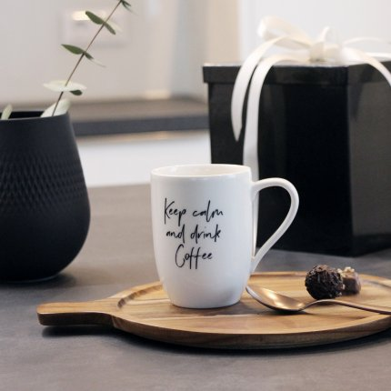 """Cana Villeroy & Boch Statement """"Keep calm and drink Coffee"""" 340ml"""