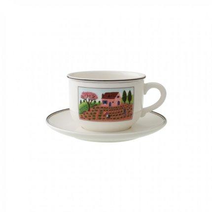 Ceasca si farfuriuta cappuccino Villeroy & Boch Design Naif 0.42 litri