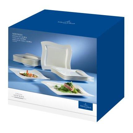 Set Villeroy & Boch NewWave Dinner 6 farfurii plate si 6 farfurii adanci