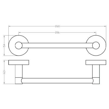 Suport prosop cu prindere magnetica Bemeta Rawell 20cm