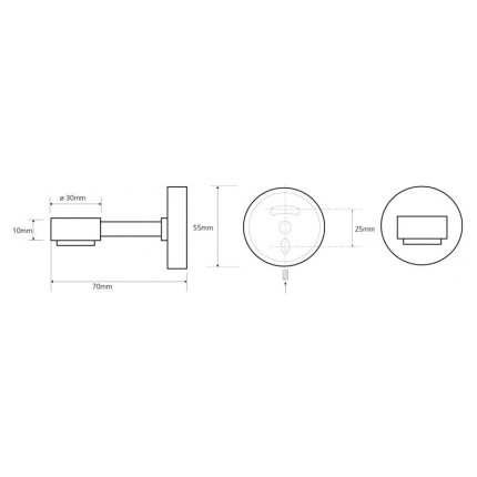 Savoniera de perete Bemeta Omega cu suport magnetic pentru sapun