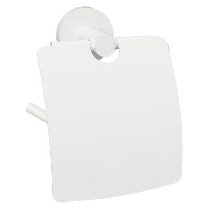 Suport hartie igienica cu aparatoare Bemeta White