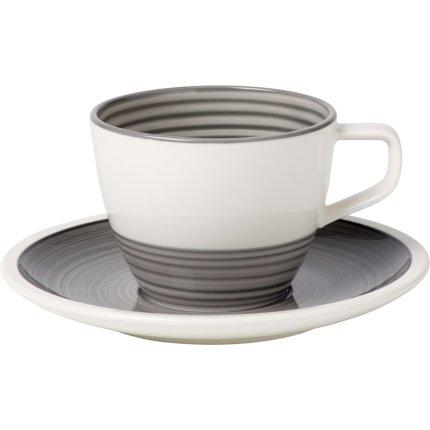 Ceasca si farfuriuta pentru cafea Villeroy & Boch Manufacture Gris 0.25 litri