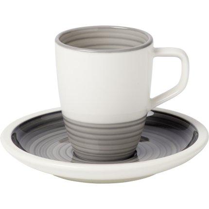 Ceasca si farfuriuta espresso Villeroy & Boch Manufacture Gris 0.10 litri