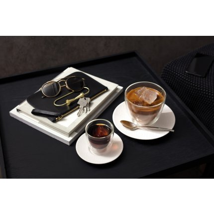 Ceasca si farfuriuta cappucinno Villeroy & Boch Manufacture Rock Blanc