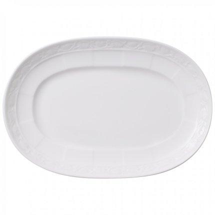 Platou Villeroy & Boch White Pearl Pickle Dish 22cm