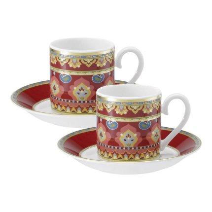 Set espresso 2 persoane Villeroy & Boch Samarkand Rubin Espresso 4 piese