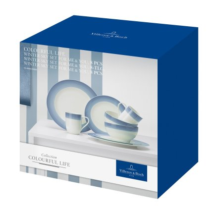 Set Villeroy & Boch Colourful Life Winter Sky For Me & You 8 piese