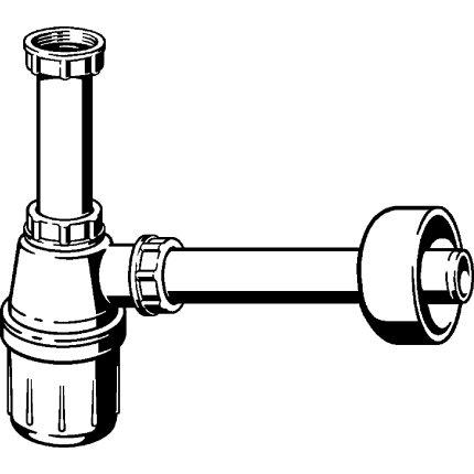Sifon pentru lavoar Viega 32mm, plastic alb