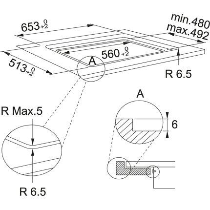 Plita inductie incorporabila Franke Maris FMA 654 I F BK cu 4 zone, 65cm, Nero