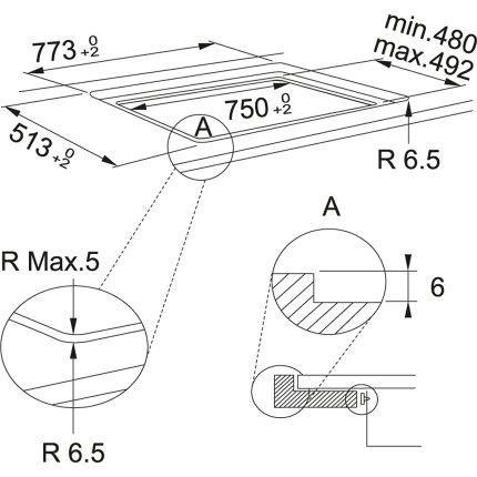 Plita inductie incorporabila Franke Maris FMA 804 I F BK cu 4 zone, 80cm, Nero